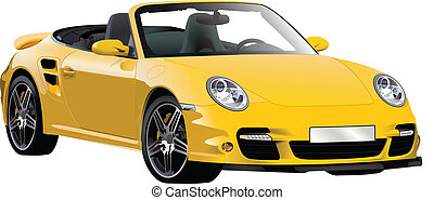 cool yellow car