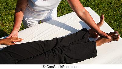polaridade, massagem