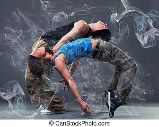 pasión, baile, pareja