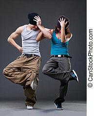 paixão, dança, par