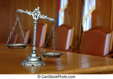 Decorative Scales of Justice - Symbol of law and justice on...