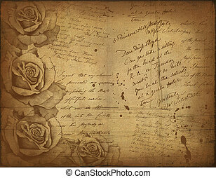 Vintage background image with floral elements with...