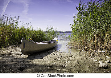 Canoe on the shore