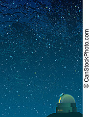Astronomy Background - Cartoon astronomy background in A4...