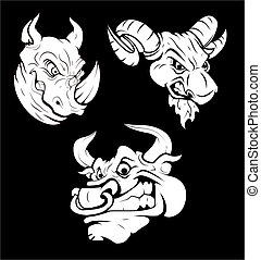 Angry Tattoos - Creative Abstract Design Art of Angry...