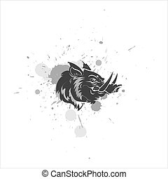 Angry Pig Mascot Vector Character - Creative Design Art of...