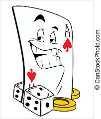 Gamble Mascot Tattoo Vector - Creative Abstract Conceptual...