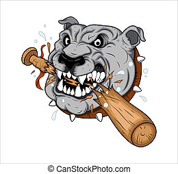 Dog Mascot Tattoo Vector - Creative Conceptual Design Art of...