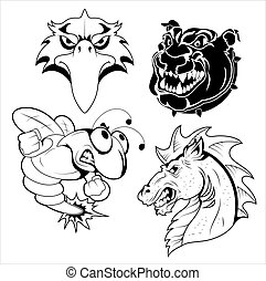 Tattoo Mascots - Creative Abstract Design Art of Tattoo...