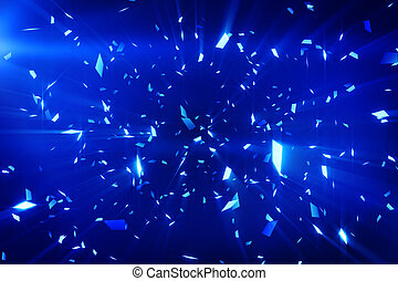 blue shiny confetti background - blue shiny confetti....