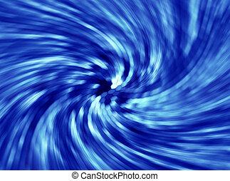 blue swirl light streaks