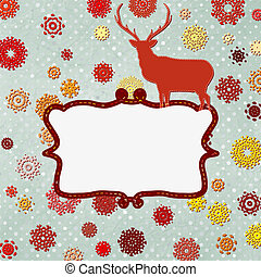 Christmas deer design template. EPS 8