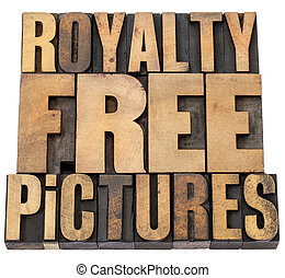 royalty free pictures - isolated words in vintage...
