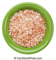 Himalayan salt bowl - Himalayan salt coarse crystals in...