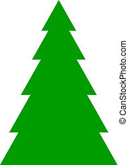fir tree background - Vector illustration of fir tree...