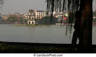 Hoan Kiem lake Hanoi - 24 december 2011: Hanoi,...