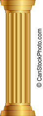 gold column - Vector illustration of gold column