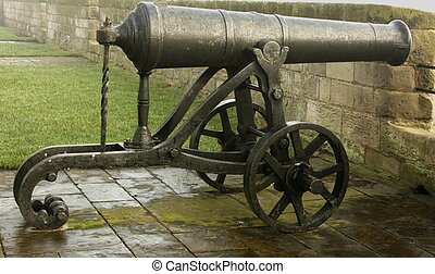 Victorian Cannon - A Victorian muzzle loading cannon on the...