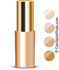 foundation with swatches - Vector illustration of foundation...