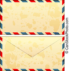 old airmail envelope - Vector illustration of old airmail...