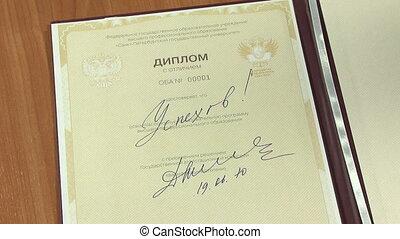 Autograph Dmitry Medvedev