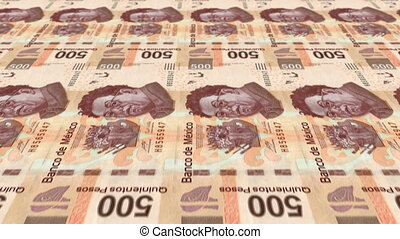 500 Peso Money Press - Animated 500 Pesos Bill Money Press