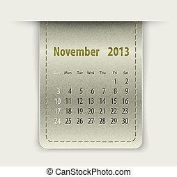 couro, textura, lustroso, novembro, Calendário,  2013