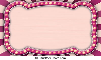 flash light pink marquee loop - flash light pink marquee....