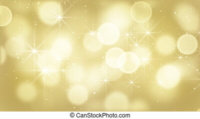 gold bokeh lights particles loop - gold bokeh lights,...