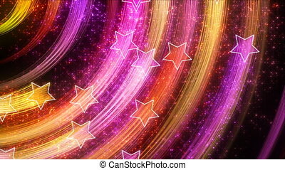 disco stars abstract loopable back - multicolor disco stars....