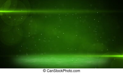 green light beams and particles. part from 5:00 to 15:00 is...