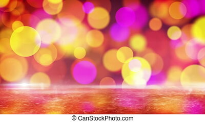 red circle bokeh lights and ice - red purple yellow circle...