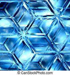Icy lattice - Blue ice, lattice, patterns, texture suits for...