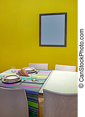 Dinning frame - Dinning table with tableware for two and...