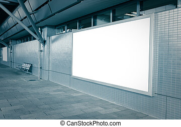 Blank billboard with empty copy space (path in the image) on...