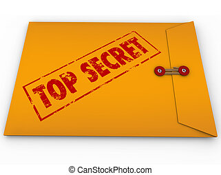 Top Secret Confidential Envelope Secret Information - A...
