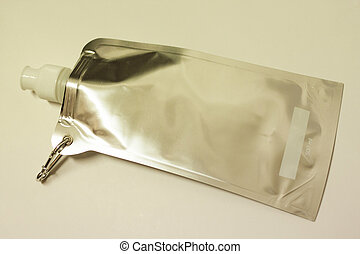 collapsible water bottle against white background