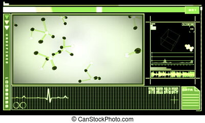 Digital interface showing molecules - Medical digital...