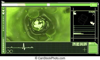 Digital interface featuring vein - Medical digital interface...