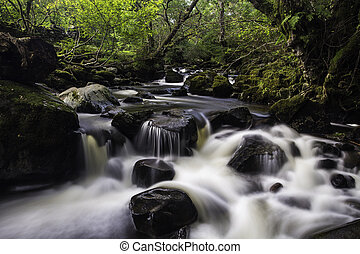 Aira Beck, Lake District, England - Long exposure with silky...