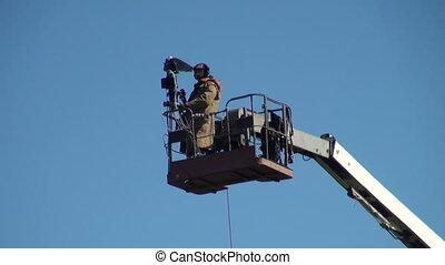 Camera on a crane