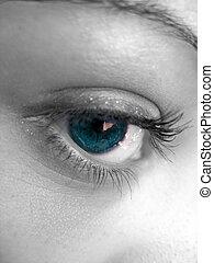 Pretty Eye - A macro shot of a pretty womans eye with...