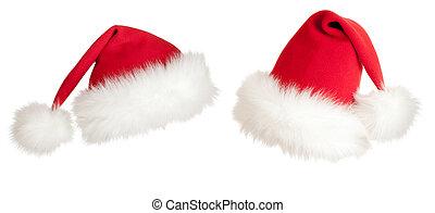 sombrero, navidad,  santa