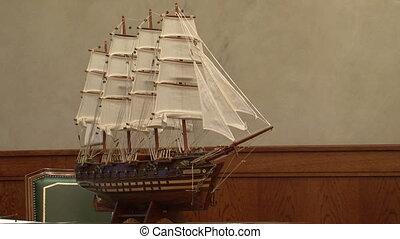 Model sailing ship