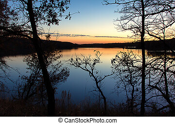 Sunset on the Lake in Indian Summer