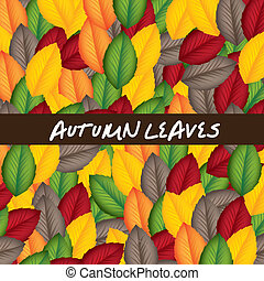 autumn leaves - colorful autumn leaves background. vector...