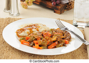 Pot roast and potatoes - Beef pot roast with potatoes and...