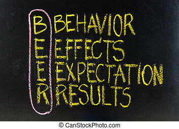 BEER behavior, effects, expectation, results acronym -...