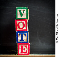 Vote blocks in classroom