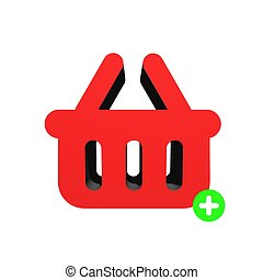 Shopping - A shopping basket isolated against a white...